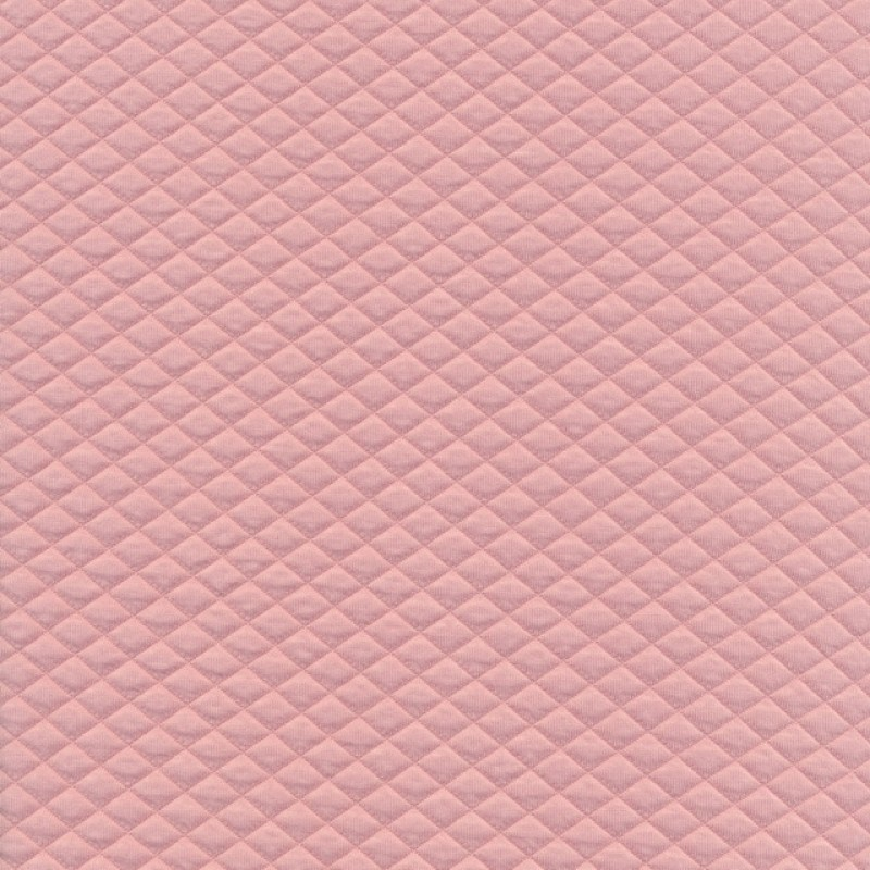 Quiltet strik-jersey, rosa