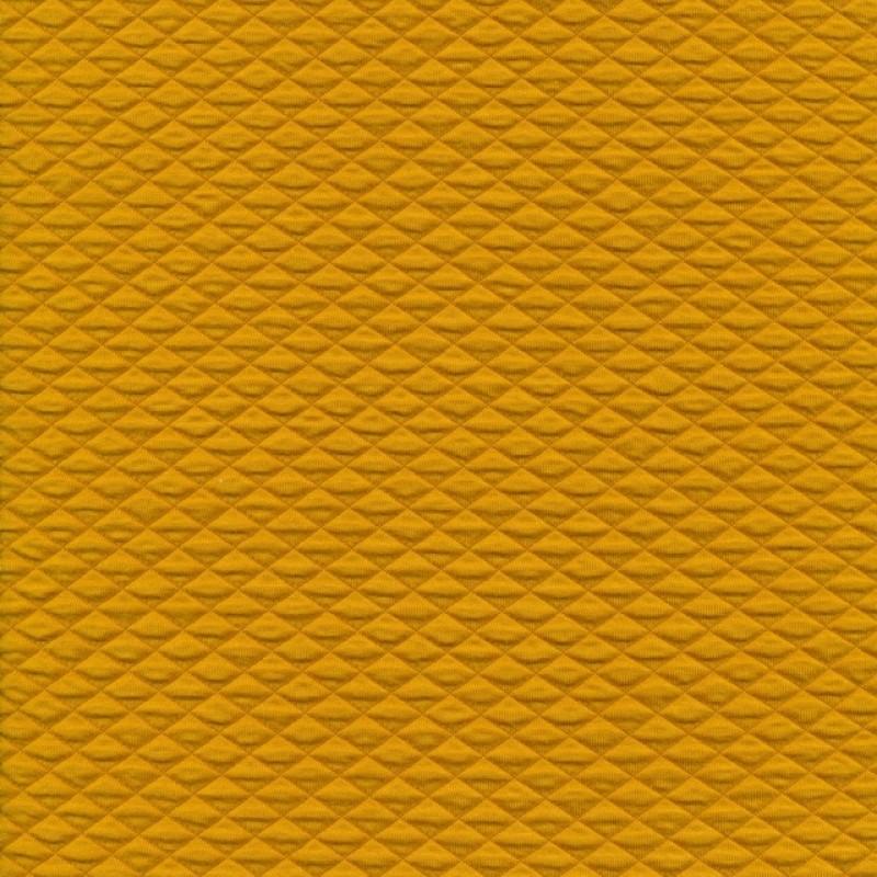 Quiltet strik-jersey, carry-gul