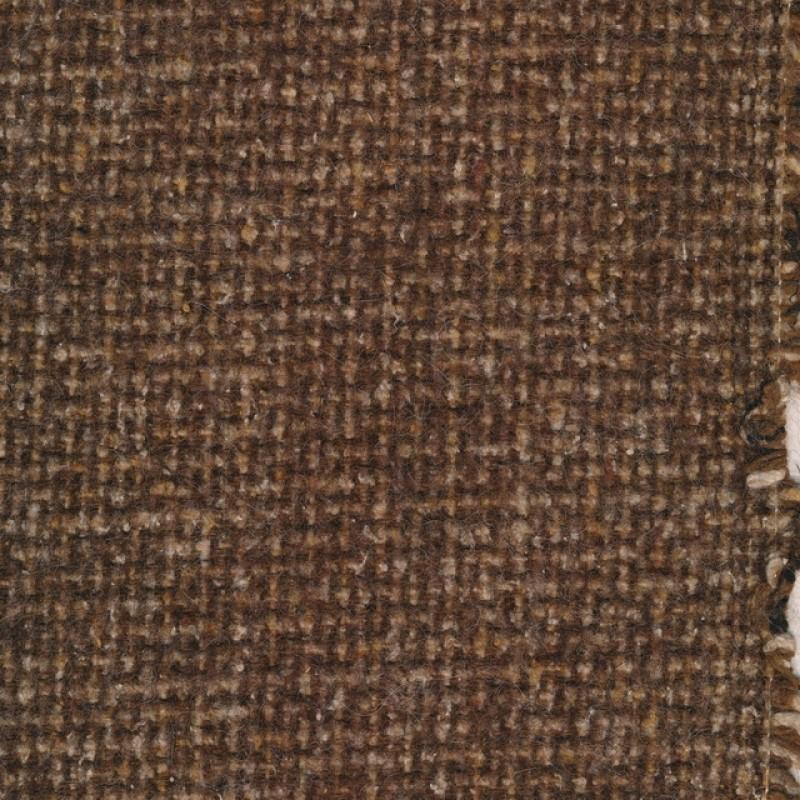 Tweed i groft look i mørkebrun og lysebrun
