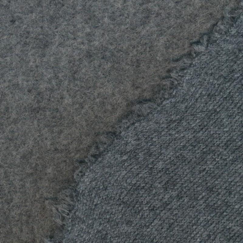 Rest Kraftig Filtet/strikket uld, lysegrå meleret, 100 cm.