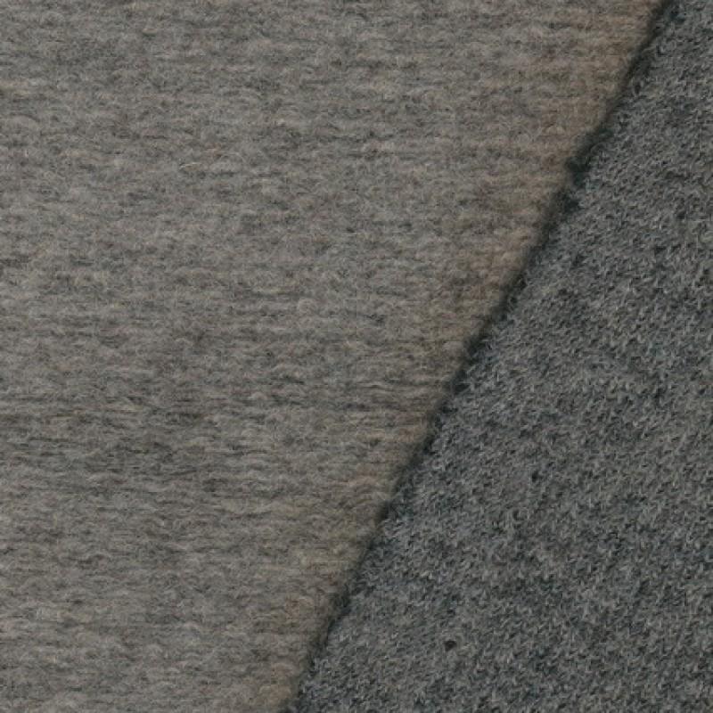 Filtet uld/strik, meleret sand/grå-35