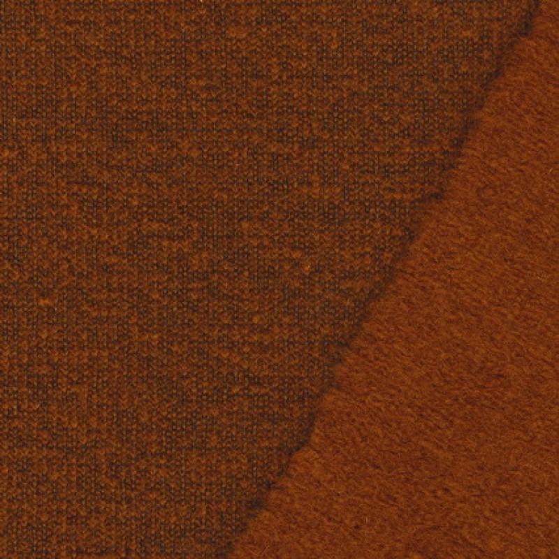 Filtet uld/strik, meleret brændt orange-35