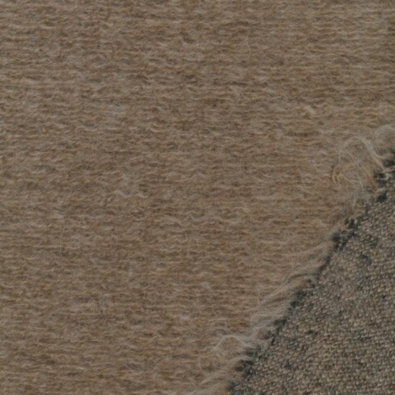 Filtet/strikket uld, beige meleret-35