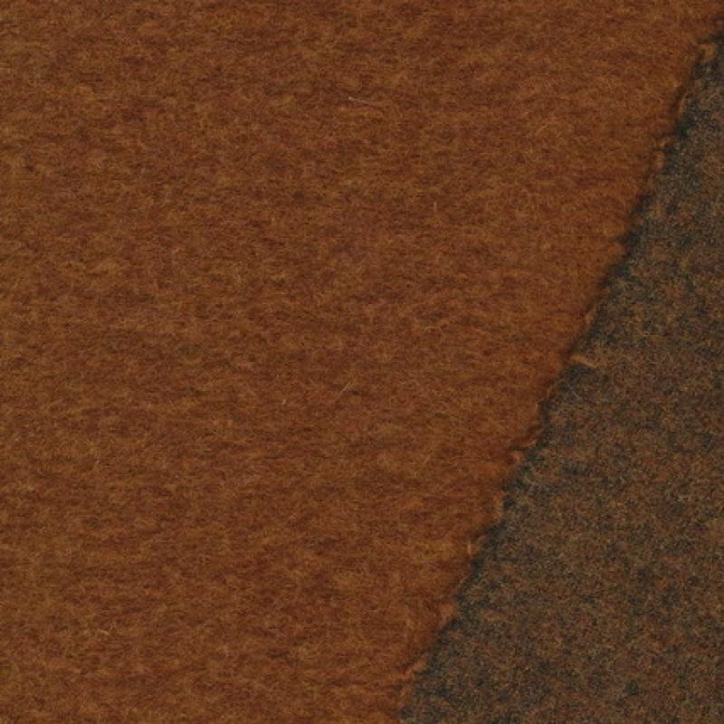 Filtet uld, lys rød-brun meleret-35