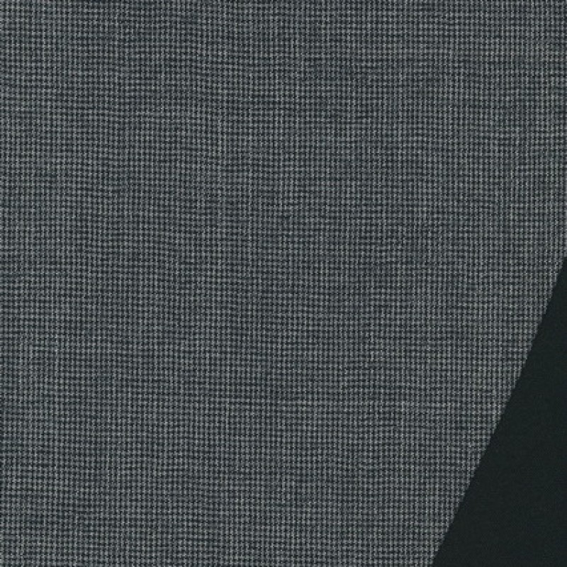 Dobbel uld m/hanefjed grå/sort-33