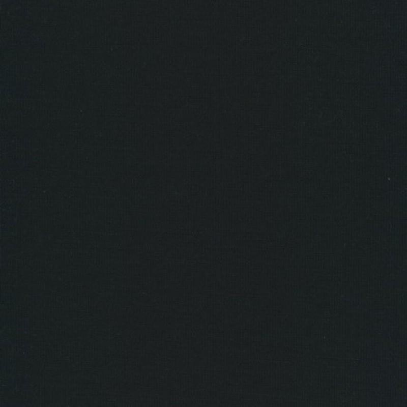 Ribstrikket jersey uld/polyester, sort-33