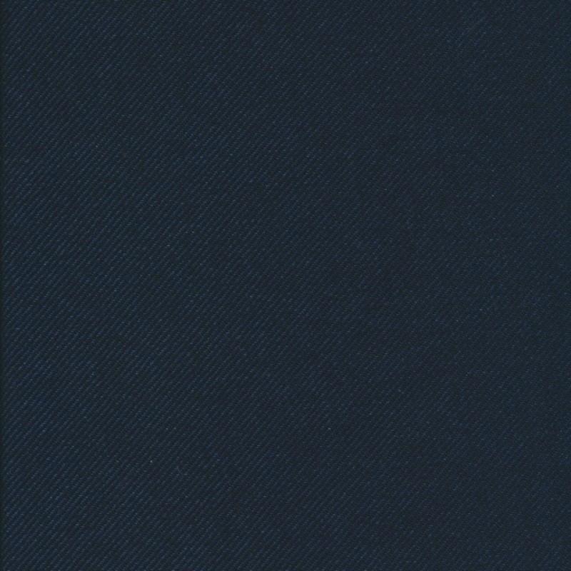 Twill-vævet uld 2-farvet denim-sort-36