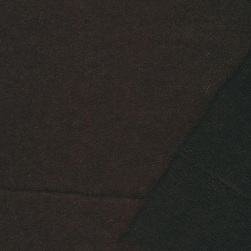 Let filtet uld/strik, mørkebrun-37