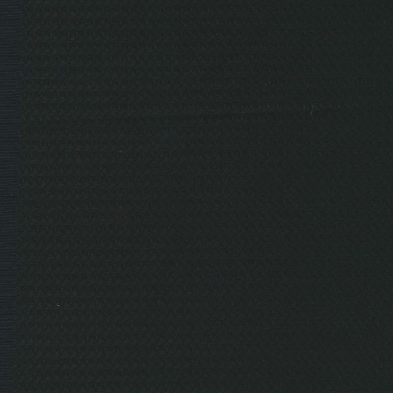 Uld/polyester med stræk og lille mønster i sort-36