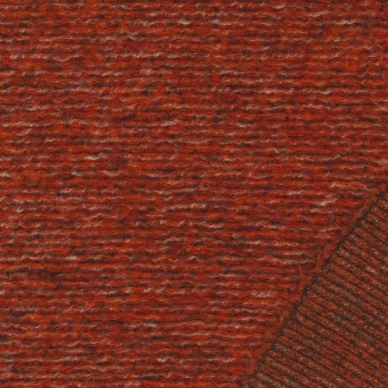 Filtet/strikket uld, brændt orange meleret-36
