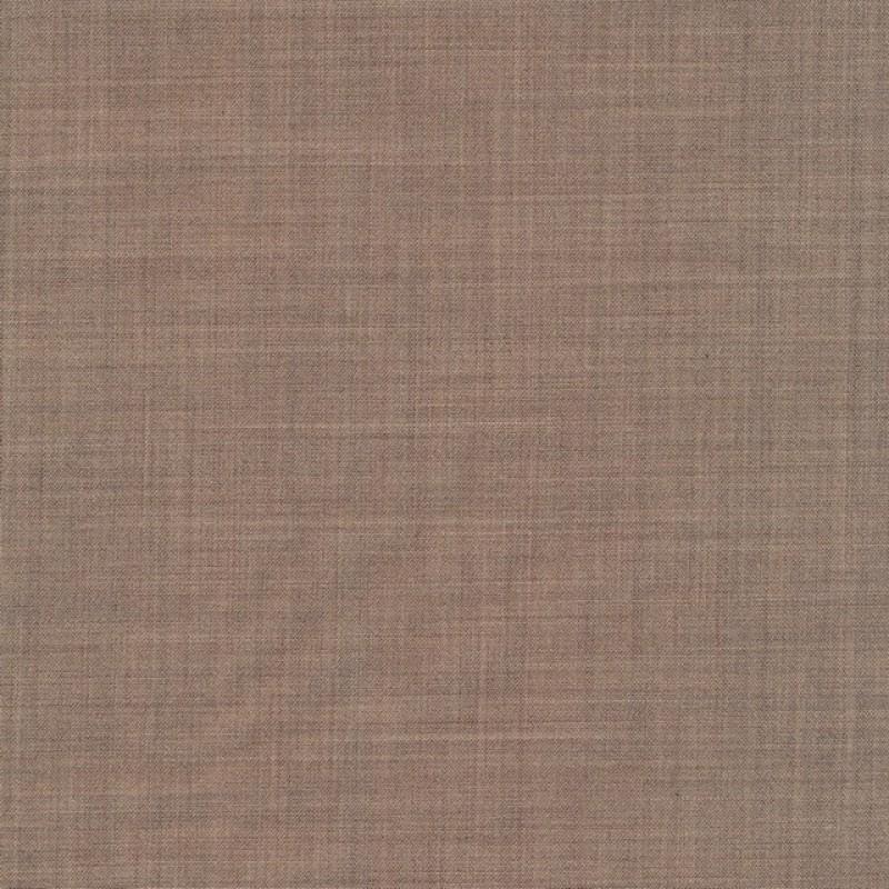 Uld/polyester m/stræk lys brun meleret-34