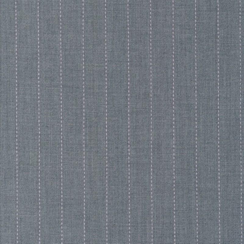 Uld/polyester m/stræk i lysegrå meleret med lyserød-35