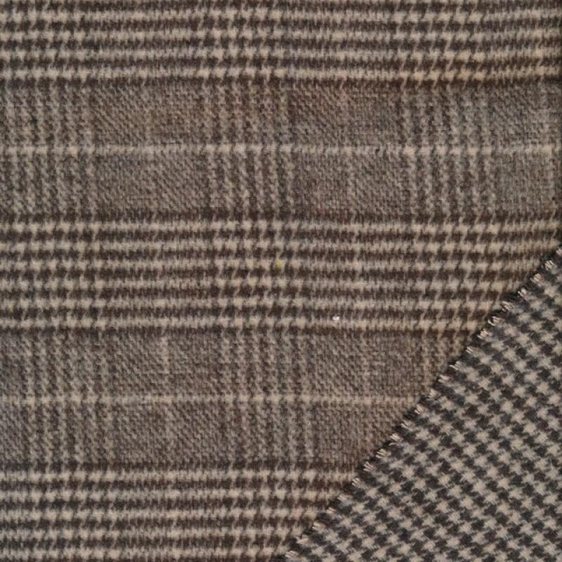 2-sidet uld/polyester i tern og hanefjed i brun og beige-38