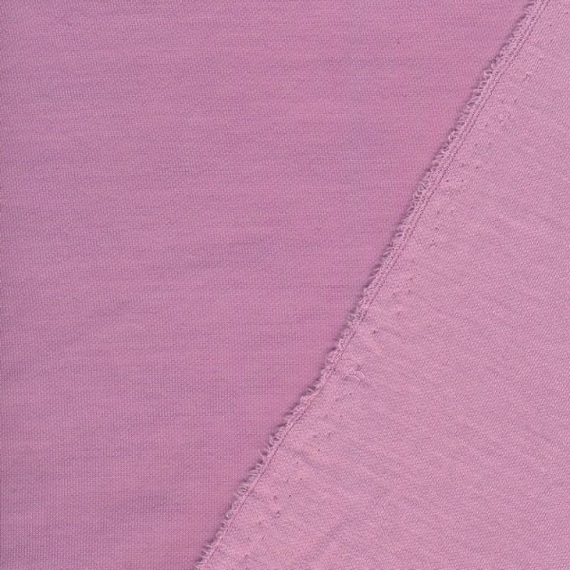 Strikket uld/bomuld i lyserød - lys syren