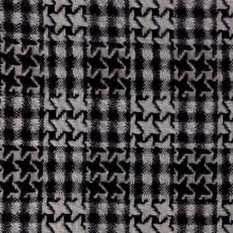 Rest Boucle tern i hanefjed sort/hvid, 75 cm.-33