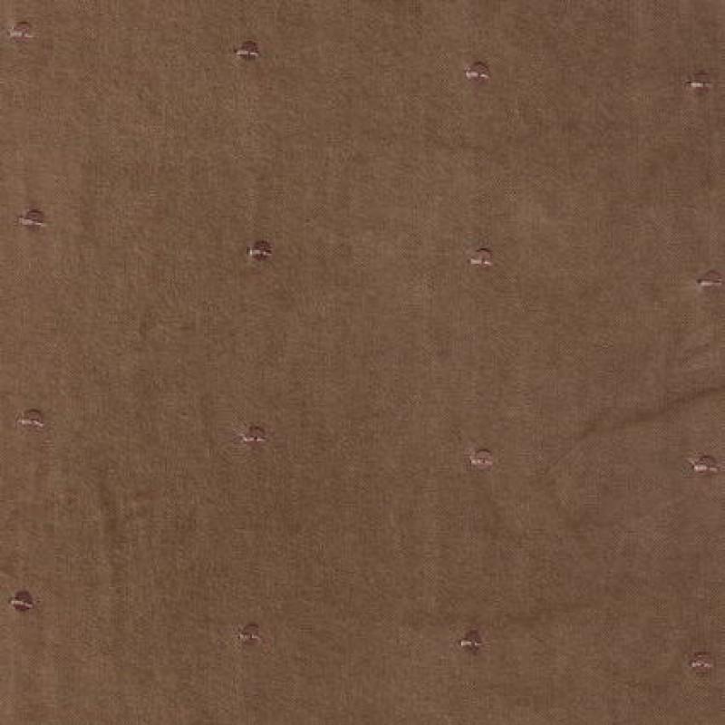 Rest Bomulds-velour m/palietter, lysebrun, 150 cm.-33