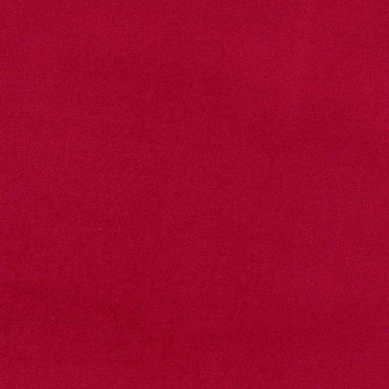 Velour i bomuld, rød