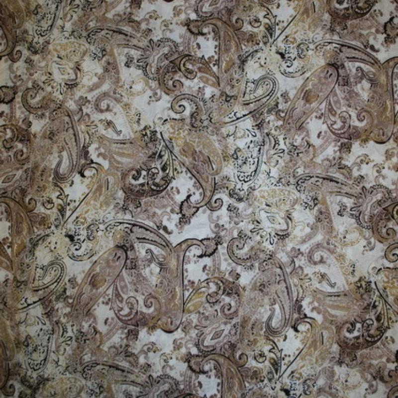 Viscose m/sjalsmønster, hvid/pudder-brun/beige-33