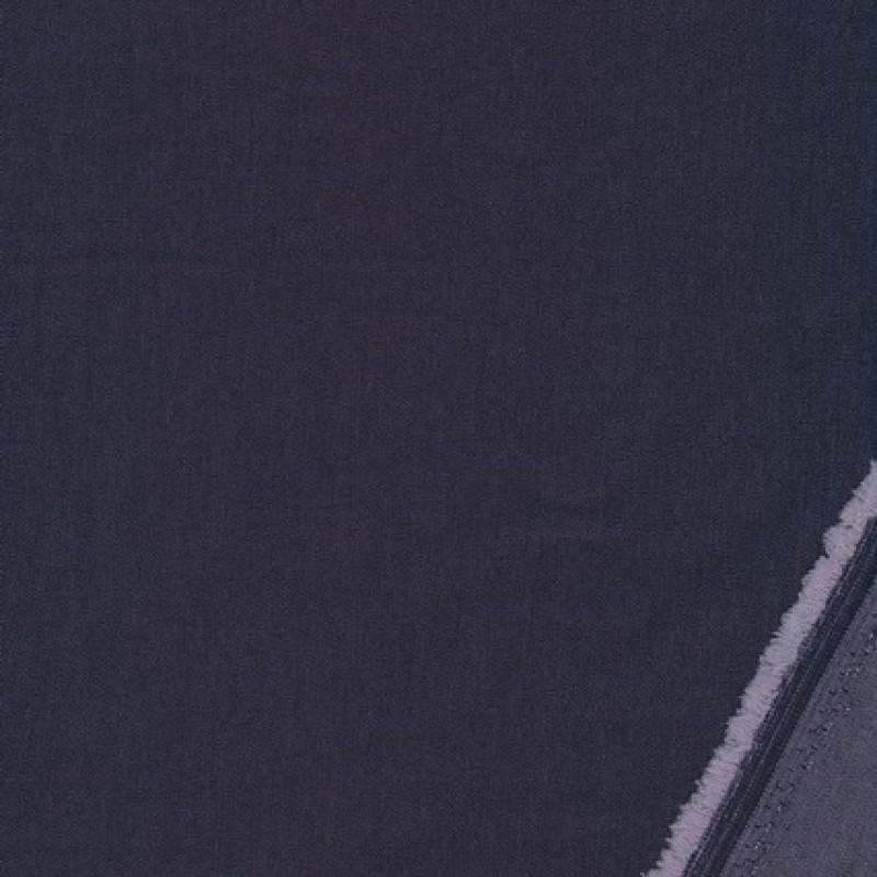 Viscose/polyester m/stræk i cowboy-look blå-35