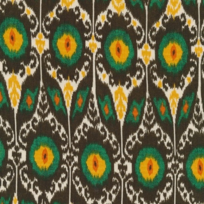 100% viscose m/mønster/blomst brun/gul/grøn/hvid-31