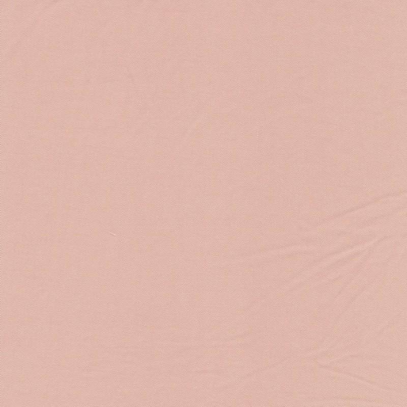 100% viskose twill-vævet ensfarvet lys pudder-rosa