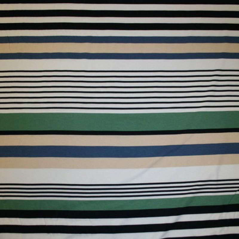 Rest Viscose/lycra m/striber beige/støvet grøn/sort 85 cm.-35