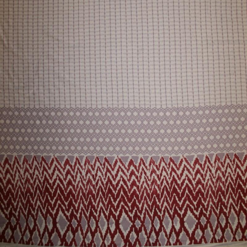 Viscose/lycra m/bort lyserød/syren/varm rød-31