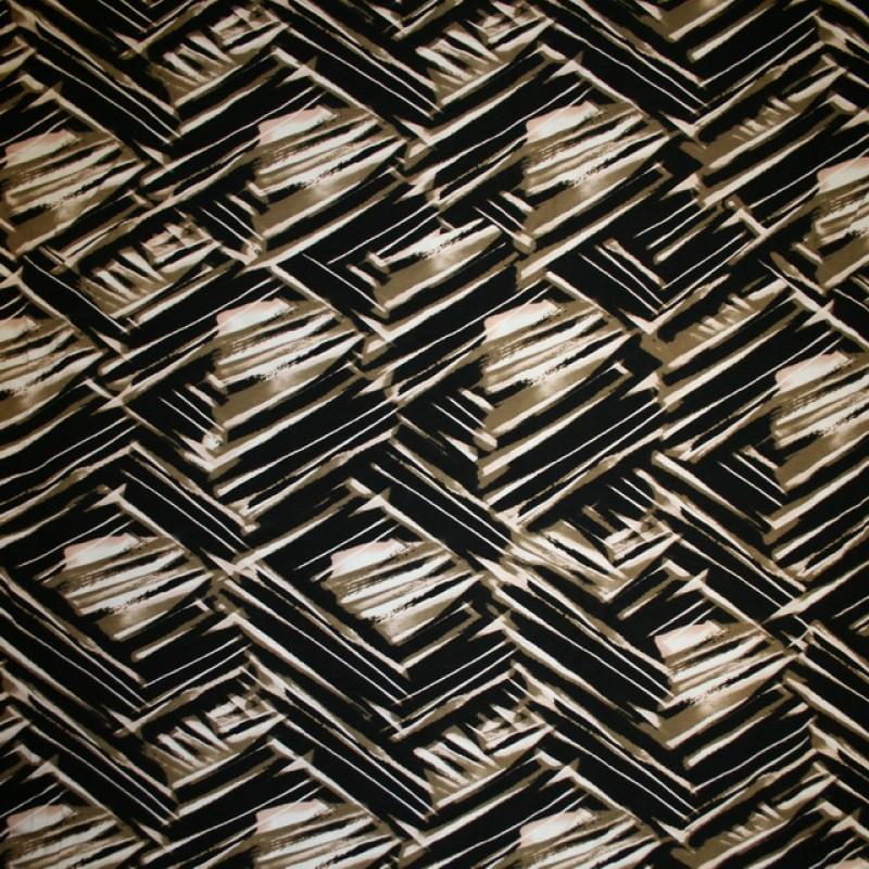 Rest Viscose/lycra mønstret sort/grå-oliven/laks/hvid, 150 cm.-33
