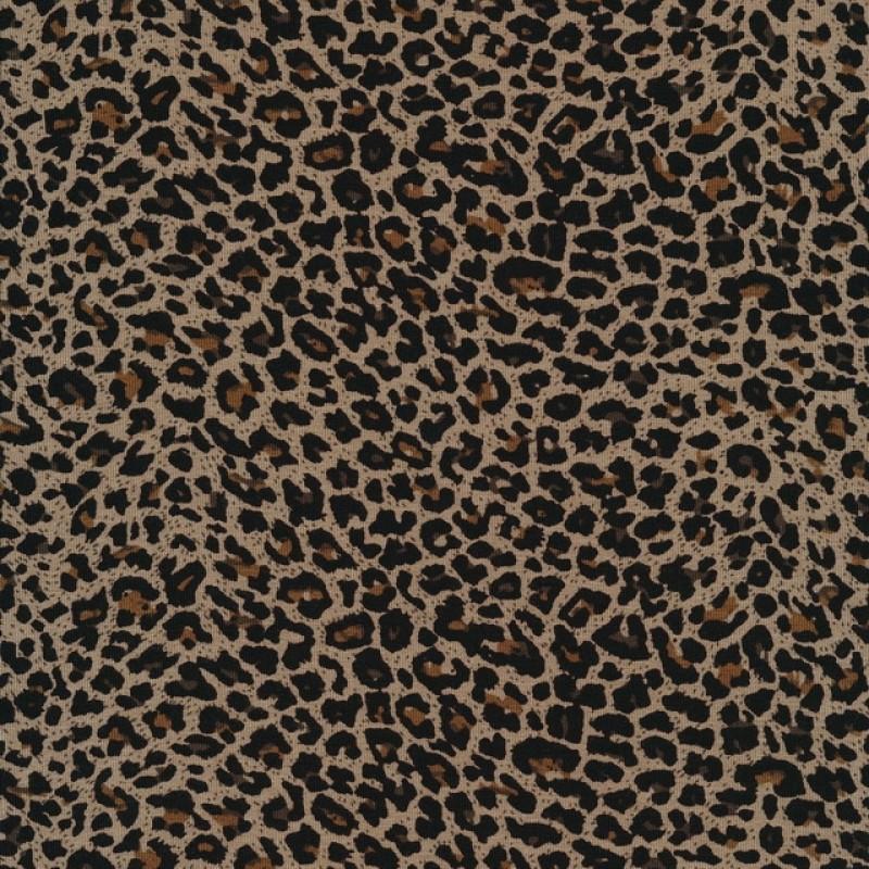 Viskose jersey med dyreprint beige brun sort-310