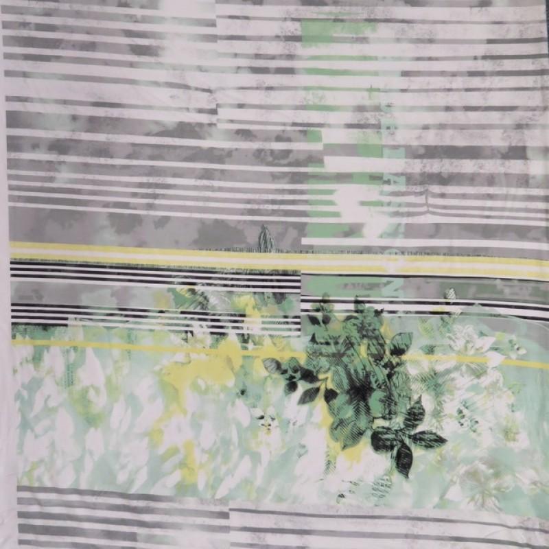 AfklipViscoselycramdigitaltprintmedstribogblomstihvidgrmint90cm-018
