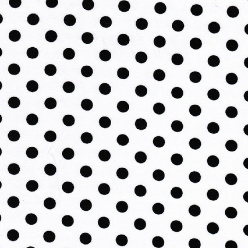 Bomuld/lycra økotex m/prikker, hvid/sort-31