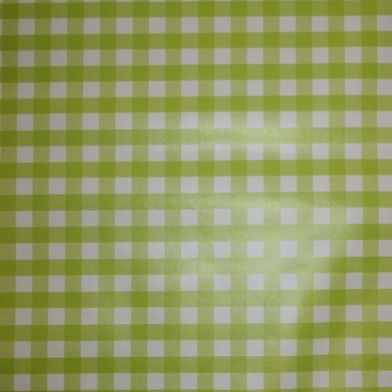 Voksdug i køkkentern, hvid/lime-35