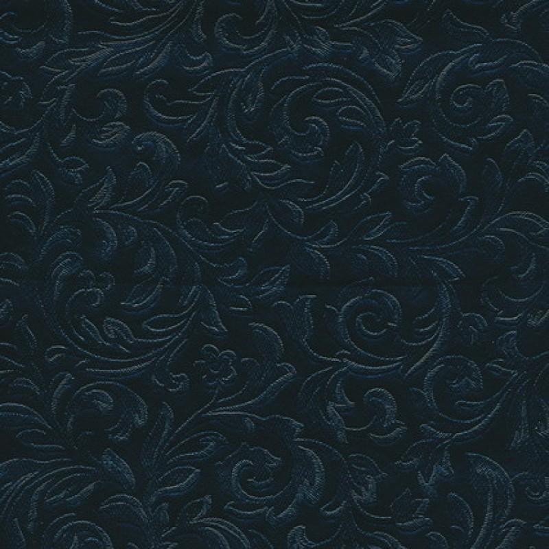 Rest Voksdug m/præget blad-mønster, sort 60 cm.-35