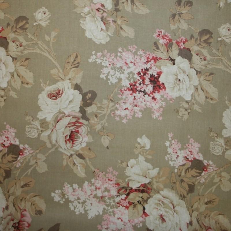 Textil-/voksdug hør med blomster