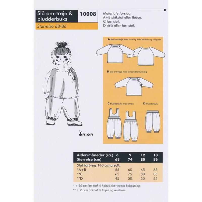 Onion 10008 -Slå om-trøje & pludderbuks