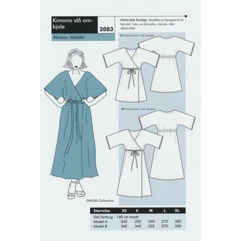 Onion 2083 Kimono slå om-kjole-38