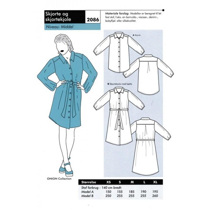 Onion 2086 -Skjorte og skjortekjole