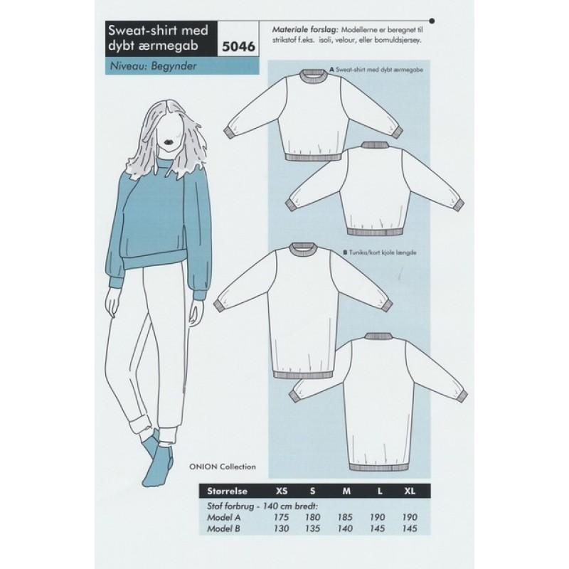 Onion 5046 Sweat-shirt med dybt ærmegab