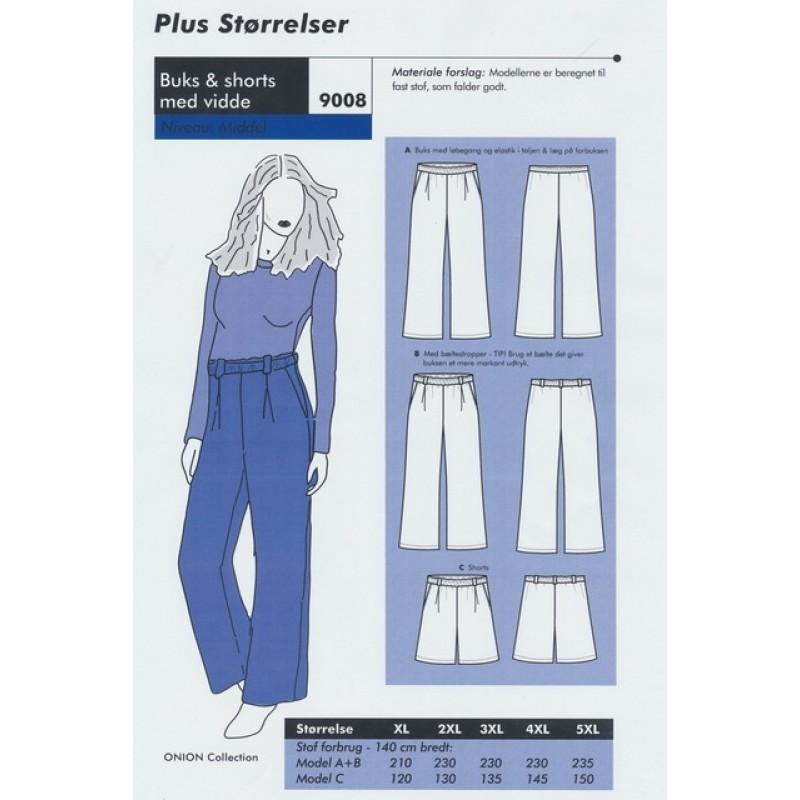 Onion 9008 Plus -Buks & shorts med vidde