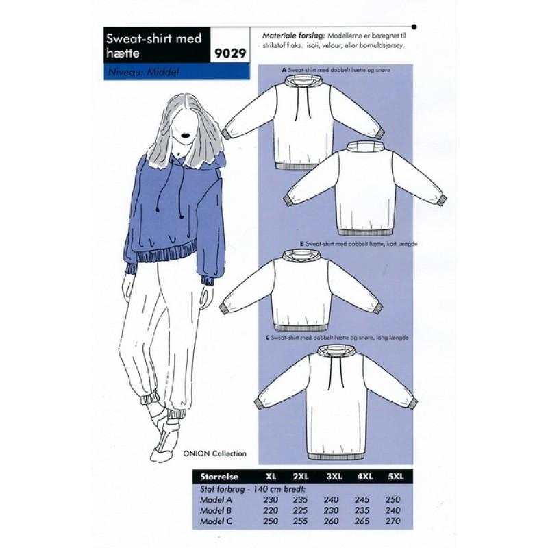 Onion 9029 Plus - Sweat-shirt med hætte