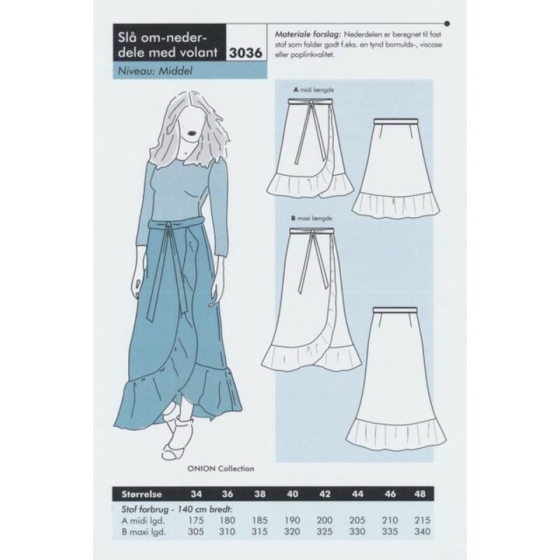 cba9381a78f Onion 3036 -Slå om-nederdel med volant | Køb online | SToFSTEDET.dk