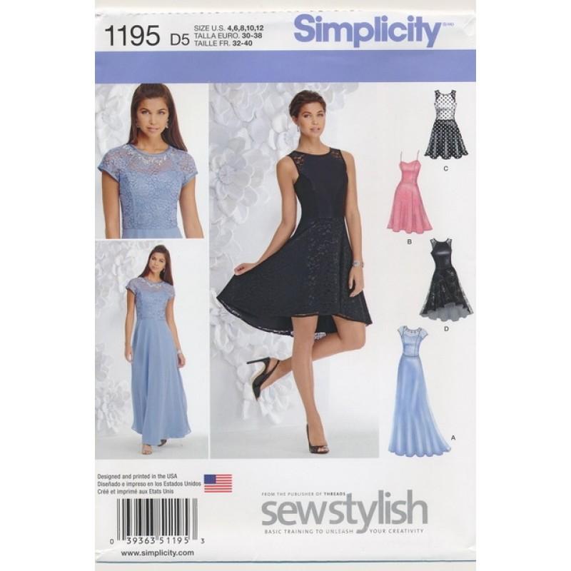 Simplicity 1195 Festkjole