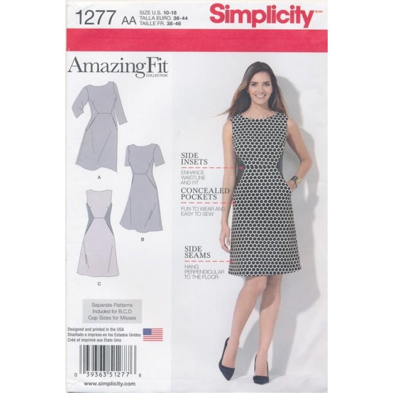 Simplicity 1277 Kjole Amazing Fit