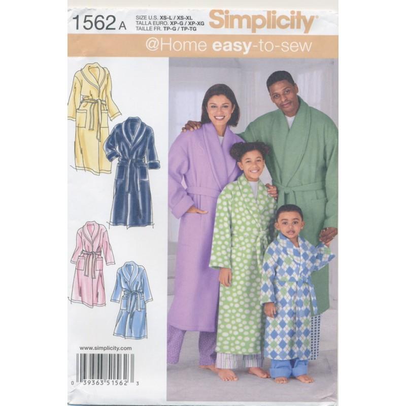 Simplicity 1562 Morgenkåbe børn og voksne-31