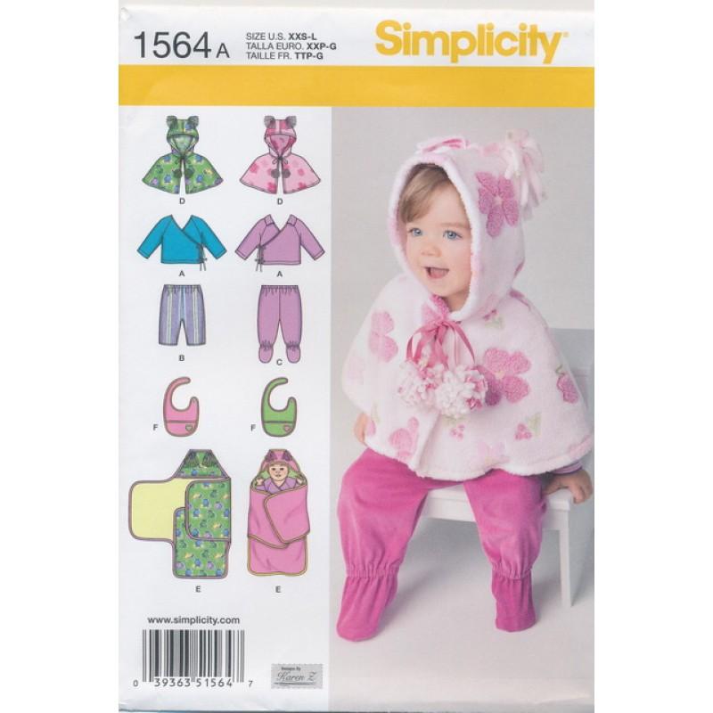 Simplicity 1564 Baby slag/bukser/bluse