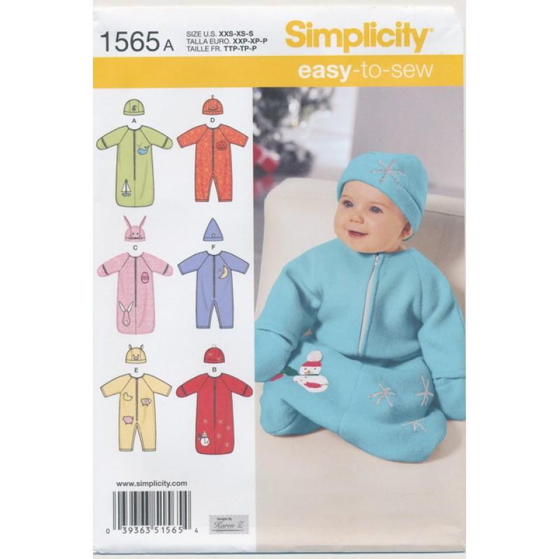 Simplicity 1565 Baby køredragt/-pose-35