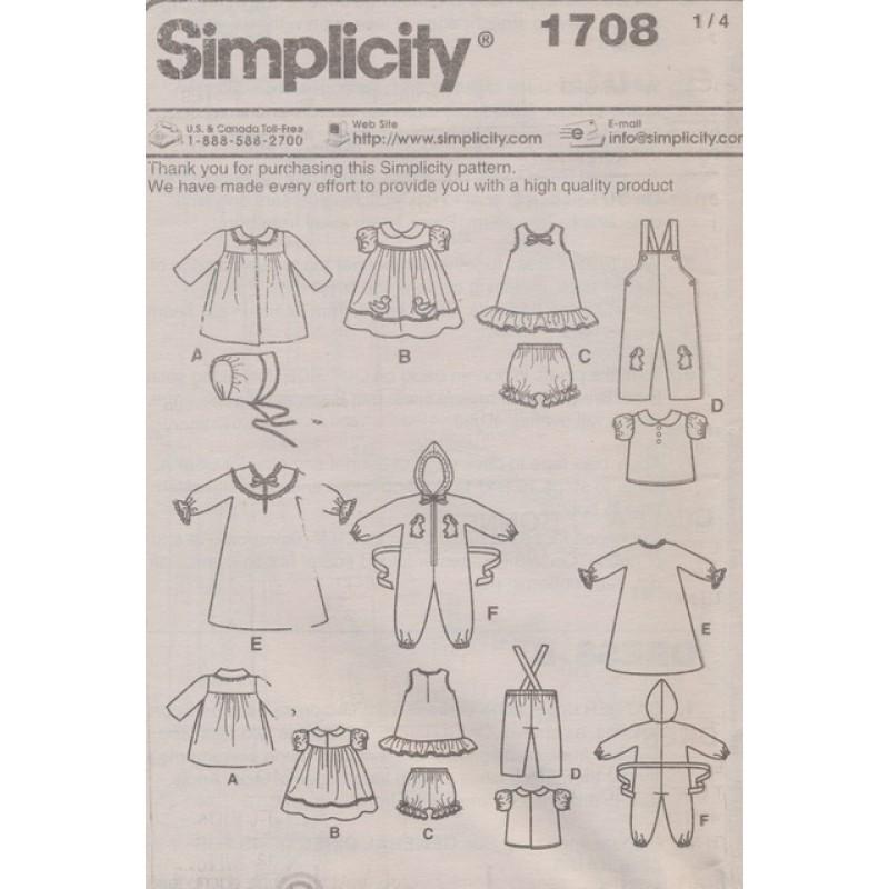 Simplicity 1708 Dukketøj str. 38 cm.-33