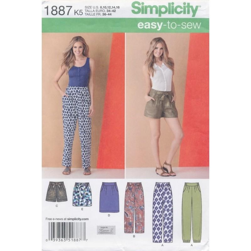Simplicity 1887 Bukser/nederdel/shorts-31