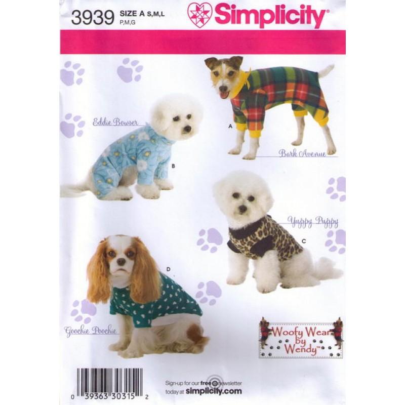 Simplicity 3939 Tøj til hunde