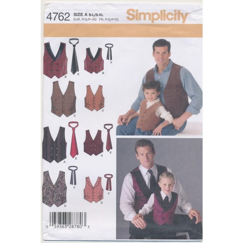 Simplicity 4762 Drenge/herre vest/slips-35